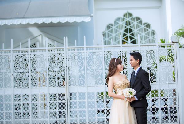 Ảnh cưới đẹp dễ thương, lãng mạn với gam màu tươi sáng trong phim trường (27) tại Cưới hỏi trọn gói 365