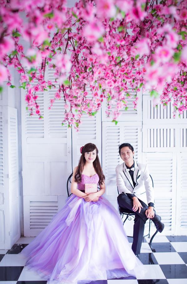 Ảnh cưới đẹp dễ thương, lãng mạn với gam màu tươi sáng trong phim trường (4) tại Cưới hỏi trọn gói 365