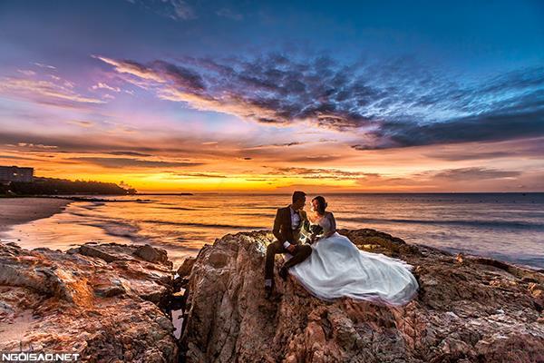 Ảnh cưới đẹp với nắng hoàng hôn của buổi chiều vàng (1) tại Cưới hỏi trọn gói 365