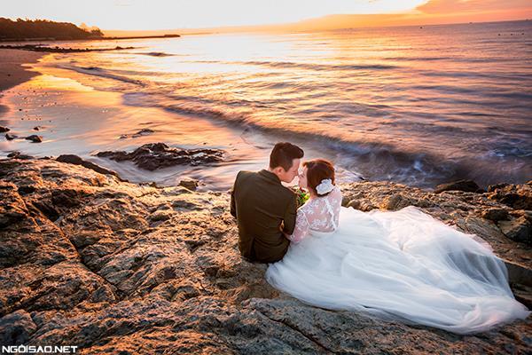 Ảnh cưới đẹp với nắng hoàng hôn của buổi chiều vàng (2) tại Cưới hỏi trọn gói 365