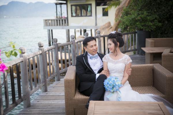 Cô dâu đẹp như thiên thần khi chọn gam màu tím và xanh biển ngọt lịm bên nụ cười hạnh phúc (16) tại Cưới hỏi trọn gói 365