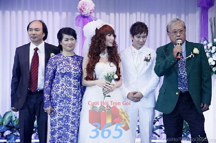 Cho thuê nhân sự làm người đại diện hai họ nhà trai, gái trong đám hỏi, lễ NDD05 : Mẫu cưới hỏi trọn gói 365 của công ty dịch vụ trang trí nhà tiệc cưới hỏi đẹp rẻ uy tín ở tại quận Tân Phú Sài Gòn TPHCM Gò Vấp