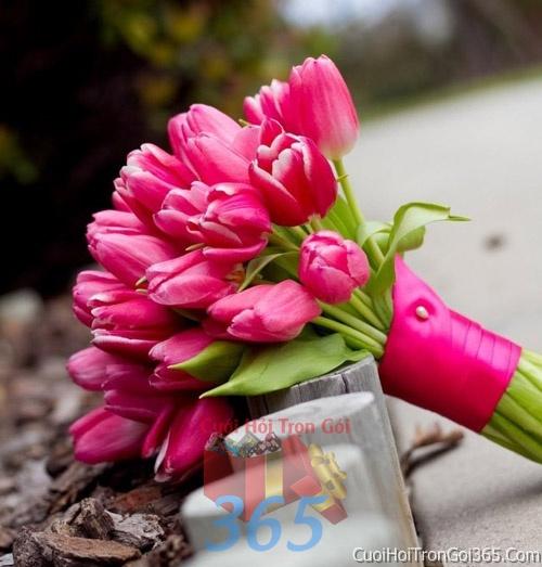 Hoa cầm tay cô dâu tông màu hồng sen kết đẹp, dễ thương cho ngày lễ ăn hỏi, tiệc đám cưới HC22 : Mẫu cưới hỏi trọn gói 365 của công ty dịch vụ trang trí nhà tiệc cưới hỏi đẹp rẻ uy tín ở tại quận Tân Phú Sài Gòn TPHCM Gò Vấp