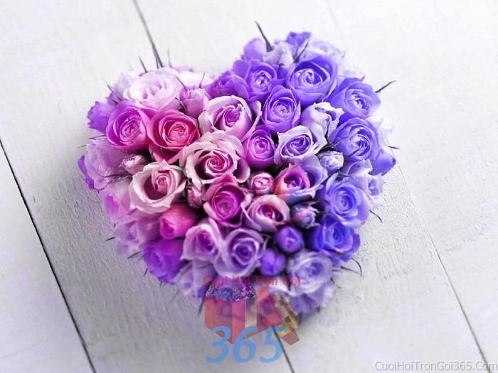 Phụ kiện đám cưới hoa tươi trái tim đầy đặn dùng để trang trí bàn ký tên đón khách, không gian tiệc cưới nhà PKC54 : Mẫu cưới hỏi trọn gói 365 của công ty dịch vụ trang trí nhà tiệc cưới hỏi đẹp rẻ uy tín ở tại quận Tân Phú Sài Gòn TPHCM Gò Vấp
