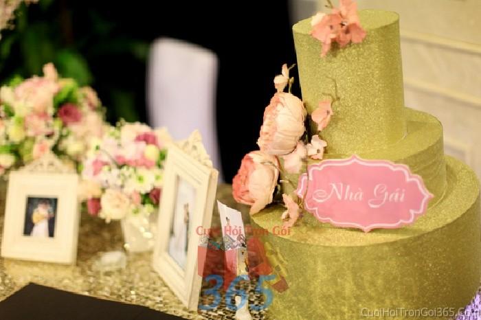 Phụ kiện đám cưới thùng đựng tiền nhà trai gái màu vàng đồng dùng để trang trí bàn ký tên đón khách, không gian tiệc cưới nhà PKC72 : Mẫu cưới hỏi trọn gói 365 của công ty dịch vụ trang trí nhà tiệc cưới hỏi đẹp rẻ uy tín ở tại quận Tân Phú Sài Gòn TPHCM Gò Vấp