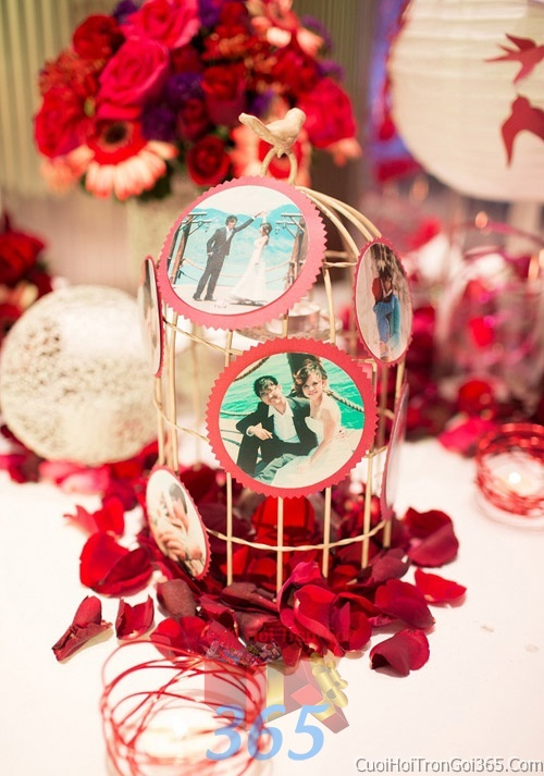 Phụ kiện lồng chim trang trí đám cưới, không gian tiệc nhà hàng sang trọng ấn tượng PKC16 : Mẫu cưới hỏi trọn gói 365 của công ty dịch vụ trang trí nhà tiệc cưới hỏi đẹp rẻ uy tín ở tại quận Tân Phú Sài Gòn TPHCM Gò Vấp