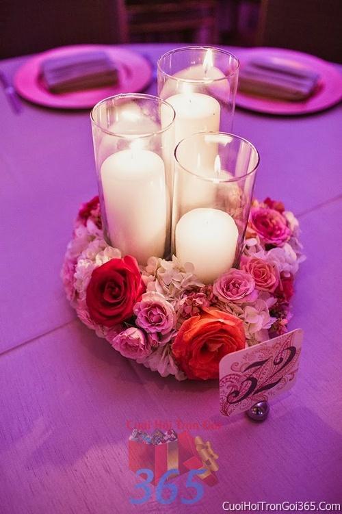 Phụ kiện nến sáp thơm trang trí đám cưới, không gian tiệc nhà hàng sang trọng ấn tượng PKC18 : Mẫu cưới hỏi trọn gói 365 của công ty dịch vụ trang trí nhà tiệc cưới hỏi đẹp rẻ uy tín ở tại quận Tân Phú Sài Gòn TPHCM Gò Vấp