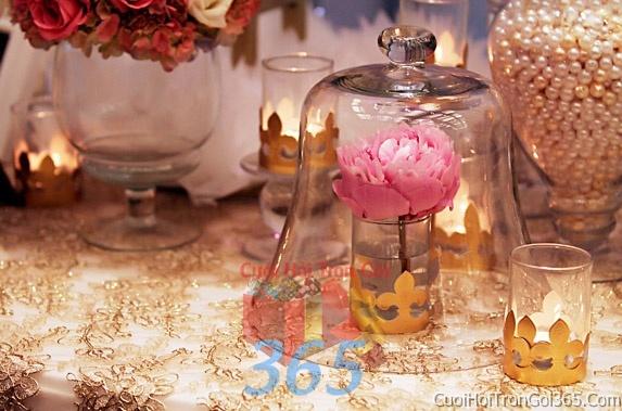 Phụ kiện trang trí đám cưới, không gian tiệc nhà hàng sang trọng ấn tượng PKC24 : Mẫu cưới hỏi trọn gói 365 của công ty dịch vụ trang trí nhà tiệc cưới hỏi đẹp rẻ uy tín ở tại quận Tân Phú Sài Gòn TPHCM Gò Vấp
