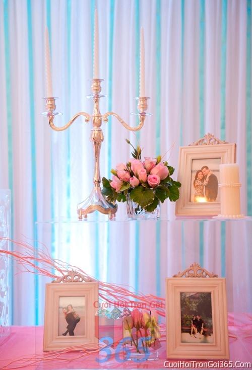 Phụ kiện trang trí đám cưới, không gian tiệc nhà hàng sang trọng ấn tượng PKC26 : Mẫu cưới hỏi trọn gói 365 của công ty dịch vụ trang trí nhà tiệc cưới hỏi đẹp rẻ uy tín ở tại quận Tân Phú Sài Gòn TPHCM Gò Vấp