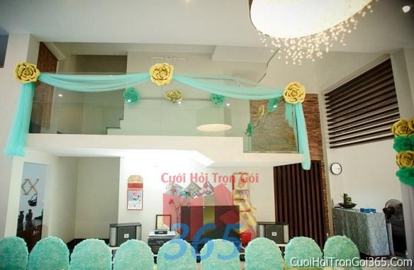 Trang trí chi tiết nhà cửa nhà trong ngày cưới, lễ đính hôn, ăn hỏi gia tiên CTN10 : Mẫu cưới hỏi trọn gói 365 của công ty dịch vụ trang trí nhà tiệc cưới hỏi đẹp rẻ uy tín ở tại quận Tân Phú Sài Gòn TPHCM Gò Vấp