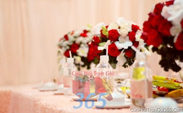 Trang trí nhà cưới hỏi tông màu cho ngày lễ đính hôn, ăn hỏi gia tiên, đám cưới TTNCH07 : Mẫu cưới hỏi trọn gói 365 của công ty dịch vụ trang trí nhà tiệc cưới hỏi đẹp rẻ uy tín ở tại quận Tân Phú Sài Gòn TPHCM Gò Vấp