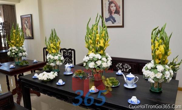 Trang trí nhà cưới hỏi tông màu cho ngày lễ đính hôn, ăn hỏi gia tiên, đám cưới TTNCH08 : Mẫu cưới hỏi trọn gói 365 của công ty dịch vụ trang trí nhà tiệc cưới hỏi đẹp rẻ uy tín ở tại quận Tân Phú Sài Gòn TPHCM Gò Vấp