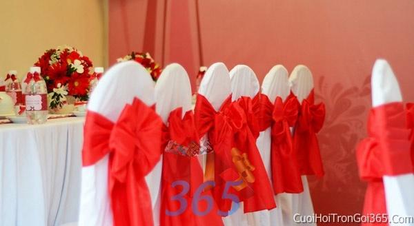 Trang trí nhà cưới hỏi tông màu đỏ song hỷ cho ngày lễ đính hôn, ăn hỏi gia tiên, đám cưới TTNCH43 : Mẫu cưới hỏi trọn gói 365 của công ty dịch vụ trang trí nhà tiệc cưới hỏi đẹp rẻ uy tín ở tại quận Tân Phú Sài Gòn TPHCM Gò Vấp