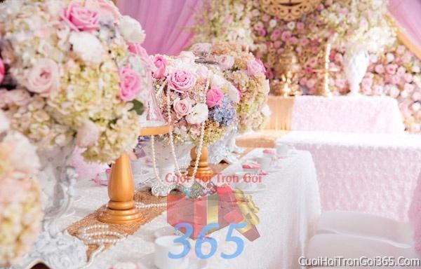 Trang trí nhà cưới hỏi tông màu hồng pastel cho ngày lễ đính hôn, ăn hỏi gia tiên, đám cưới TTNCH13 : Mẫu cưới hỏi trọn gói 365 của công ty dịch vụ trang trí nhà tiệc cưới hỏi đẹp rẻ uy tín ở tại quận Tân Phú Sài Gòn TPHCM Gò Vấp