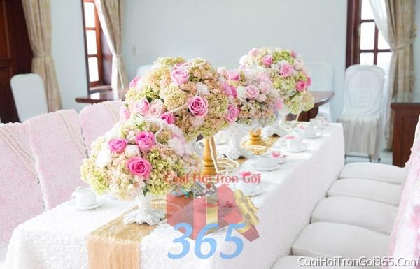 Trang trí nhà cưới hỏi tông màu hồng pastel cho ngày lễ đính hôn, ăn hỏi gia tiên, đám cưới TTNCH15 : Mẫu cưới hỏi trọn gói 365 của công ty dịch vụ trang trí nhà tiệc cưới hỏi đẹp rẻ uy tín ở tại quận Tân Phú Sài Gòn TPHCM Gò Vấp