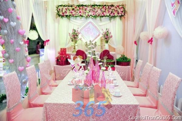 Trang trí nhà cưới hỏi tông màu hồng phấn cho ngày lễ đính hôn, ăn hỏi gia tiên, đám cướiTTNCH16 : Mẫu cưới hỏi trọn gói 365 của công ty dịch vụ trang trí nhà tiệc cưới hỏi đẹp rẻ uy tín ở tại quận Tân Phú Sài Gòn TPHCM Gò Vấp
