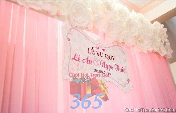 Trang trí nhà cưới hỏi tông màu hồng phấn cho ngày lễ đính hôn, ăn hỏi gia tiên, đám cưới TTNCH18 : Mẫu cưới hỏi trọn gói 365 của công ty dịch vụ trang trí nhà tiệc cưới hỏi đẹp rẻ uy tín ở tại quận Tân Phú Sài Gòn TPHCM Gò Vấp