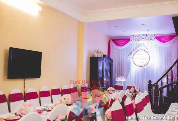 Trang trí nhà cưới hỏi tông màu tím cho ngày lễ đính hôn, ăn hỏi gia tiên, đám cướiTTNCH31 : Mẫu cưới hỏi trọn gói 365 của công ty dịch vụ trang trí nhà tiệc cưới hỏi đẹp rẻ uy tín ở tại quận Tân Phú Sài Gòn TPHCM Gò Vấp