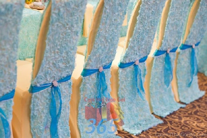 Trang trí nhà cưới hỏi tông màu xanh ngọc với vải ren hoa hồng cao cấp cho ngày lễ đính hôn, ăn hỏi gia tiên, đám TTNCH56 : Mẫu cưới hỏi trọn gói 365 của công ty dịch vụ trang trí nhà tiệc cưới hỏi đẹp rẻ uy tín ở tại quận Tân Phú Sài Gòn TPHCM Gò Vấp