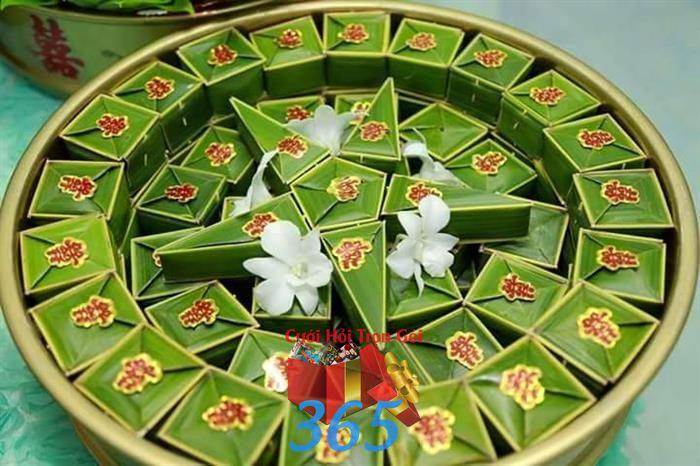 Mâm quả bánh phu thê ngày cưới : Mẫu cưới hỏi trọn gói 365 của công ty dịch vụ trang trí nhà tiệc cưới hỏi đẹp rẻ uy tín ở tại quận Tân Phú Sài Gòn TPHCM Gò Vấp