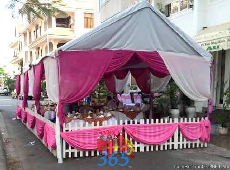 Cho thuê nhà tiệc khung rạp cưới hàng rào màu hồng đậm dễ thương lễ cho ngày đám cưới RC21 : Mẫu cưới hỏi trọn gói 365 của công ty dịch vụ trang trí nhà tiệc cưới hỏi đẹp rẻ uy tín ở tại quận Tân Phú Sài Gòn TPHCM Gò Vấp