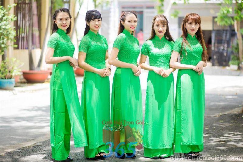 Cho thuê trang phục áo dài bưng quả nữ mới đẹp, dễ thương  DP57 : Mẫu cưới hỏi trọn gói 365 của công ty dịch vụ trang trí nhà tiệc cưới hỏi đẹp rẻ uy tín ở tại quận Tân Phú Sài Gòn TPHCM Gò Vấp
