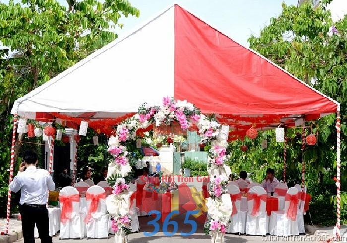 Cung cấp cho thuê rạp cưới bình dân cho ngày đám cưới, lễ ăn hỏi, đính RC14 : Mẫu cưới hỏi trọn gói 365 của công ty dịch vụ trang trí nhà tiệc cưới hỏi đẹp rẻ uy tín ở tại quận Tân Phú Sài Gòn TPHCM Gò Vấp