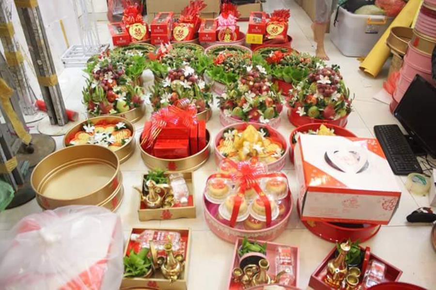 Dịch vụ mâm quả ngày cưới trọn gói cung cấp khắp các quận MQ58 : Mẫu cưới hỏi trọn gói 365 của công ty dịch vụ trang trí nhà tiệc cưới hỏi đẹp rẻ uy tín ở tại quận Tân Phú Sài Gòn TPHCM Gò Vấp