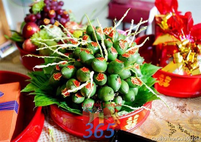 Mâm quả cưới hỏi ngon đẹp trọn gói cho nghi lễ gia tiên ăn hỏi ngày  MQ27 : Mẫu cưới hỏi trọn gói 365 của công ty dịch vụ trang trí nhà tiệc cưới hỏi đẹp rẻ uy tín ở tại quận Tân Phú Sài Gòn TPHCM Gò Vấp