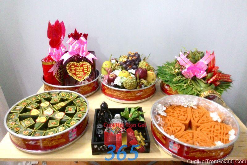 Mâm quả cưới hỏi tổng hợp 6 quả trọn gói tươi ngon làm lễ vật đính hôn, đám  MQ42 : Mẫu cưới hỏi trọn gói 365 của công ty dịch vụ trang trí nhà tiệc cưới hỏi đẹp rẻ uy tín ở tại quận Tân Phú Sài Gòn TPHCM Gò Vấp