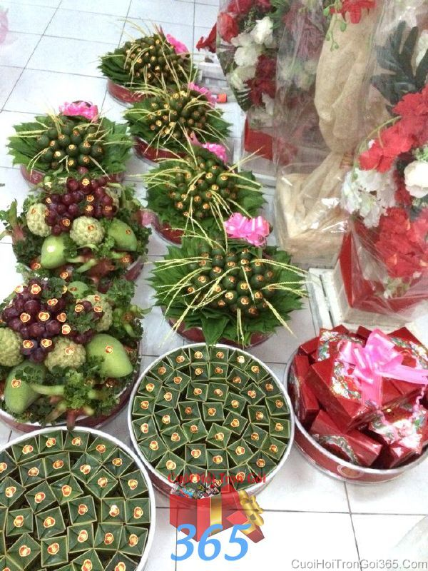 Mâm quả cưới hỏi tổng hợp trọn gói tươi ngon giao tận nơi khắp các quận t MQ45 : Mẫu cưới hỏi trọn gói 365 của công ty dịch vụ trang trí nhà tiệc cưới hỏi đẹp rẻ uy tín ở tại quận Tân Phú Sài Gòn TPHCM Gò Vấp