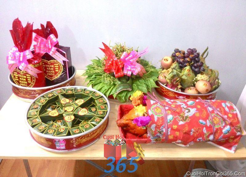 Mâm quả cưới hỏi tổng hợp trọn gói tươi ngon làm lễ vật đính hôn, đám  MQ46 : Mẫu cưới hỏi trọn gói 365 của công ty dịch vụ trang trí nhà tiệc cưới hỏi đẹp rẻ uy tín ở tại quận Tân Phú Sài Gòn TPHCM Gò Vấp