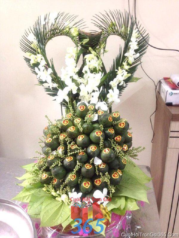 Mâm quả cưới hỏi trầu cau kết trái tim đẹp làm lễ vật đính hôn, đám  MQ40 : Mẫu cưới hỏi trọn gói 365 của công ty dịch vụ trang trí nhà tiệc cưới hỏi đẹp rẻ uy tín ở tại quận Tân Phú Sài Gòn TPHCM Gò Vấp