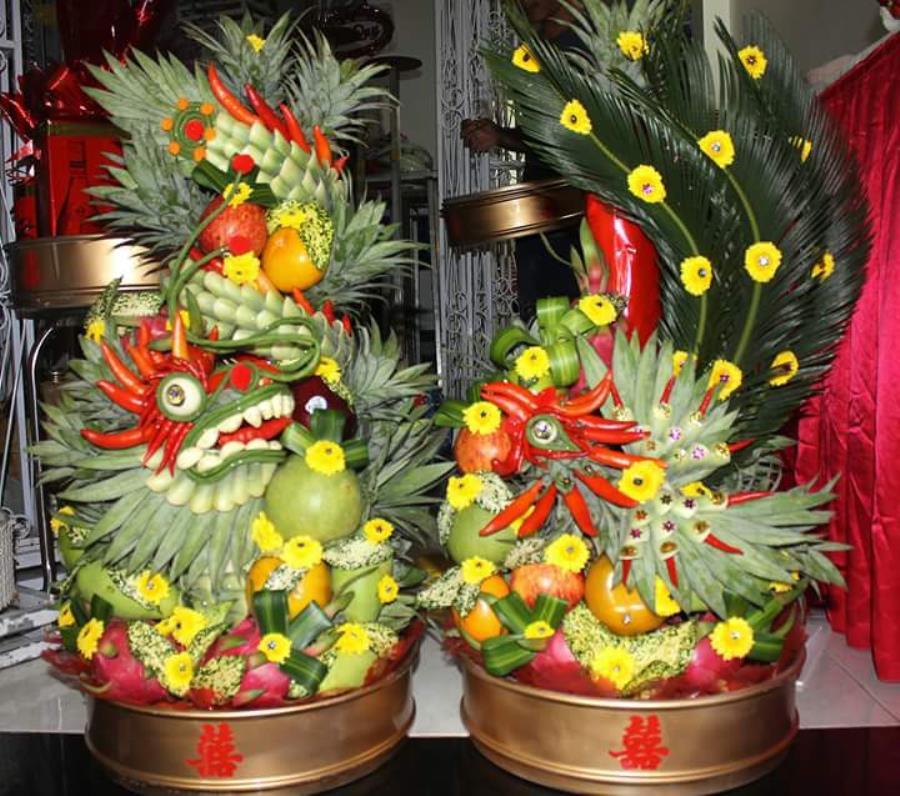 dịch vụ cưới hỏi trọn gói - Rồng phụng trái cây  RPTC19