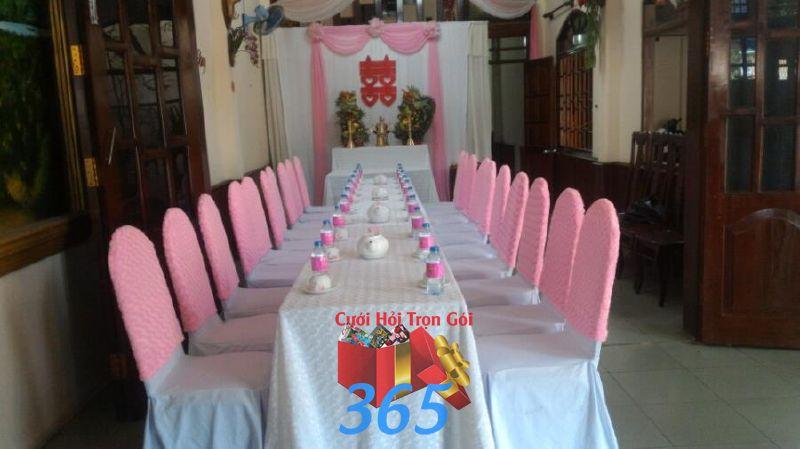 Trang trí nhà đám cưới tông màu  TTNCH111 : Mẫu cưới hỏi trọn gói 365 của công ty dịch vụ trang trí nhà tiệc cưới hỏi đẹp rẻ uy tín ở tại quận Tân Phú Sài Gòn TPHCM Gò Vấp
