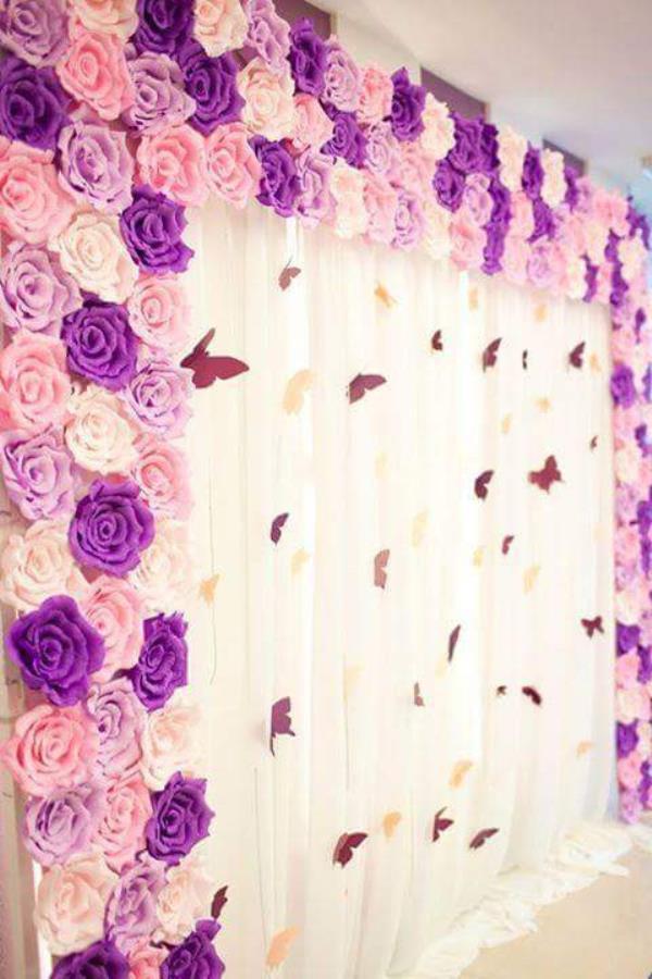 Trang trí phông cưới backdrop nhà hàng với hoa giấy BDNH67 : Mẫu cưới hỏi trọn gói 365 của công ty dịch vụ trang trí nhà tiệc cưới hỏi đẹp rẻ uy tín ở tại quận Tân Phú Sài Gòn TPHCM Gò Vấp