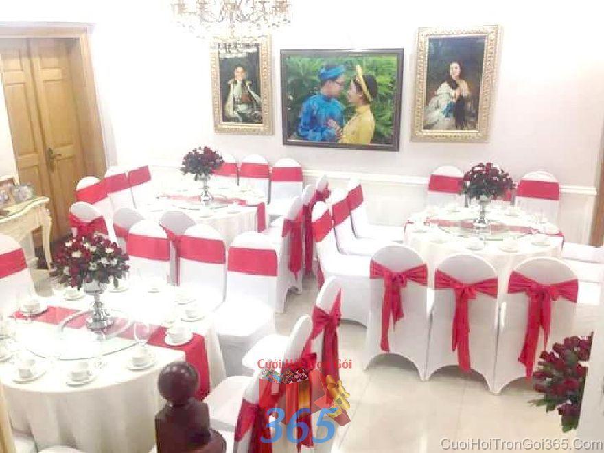 Cho thuê bàn ghế đãi tiệc ngày đám cưới hỏi tông mà BG21 : Mẫu cưới hỏi trọn gói 365 của công ty dịch vụ trang trí nhà tiệc cưới hỏi đẹp rẻ uy tín ở tại quận Tân Phú Sài Gòn TPHCM Gò Vấp