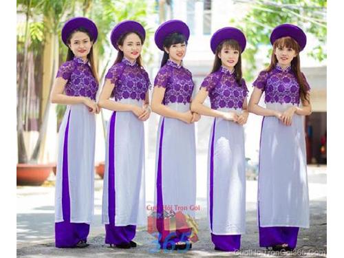 Cho thuê đội ngũ bưng mâm quả nữ trong trang phục áo dài mới đẹp hiện đại  BQNU62 : Mẫu cưới hỏi trọn gói 365 của công ty dịch vụ trang trí nhà tiệc cưới hỏi đẹp rẻ uy tín ở tại quận Tân Phú Sài Gòn TPHCM Gò Vấp