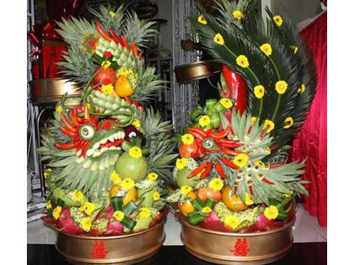Rồng phụng trái cây  RPTC19 : Mẫu cưới hỏi trọn gói 365 của công ty dịch vụ trang trí nhà tiệc cưới hỏi đẹp rẻ uy tín ở tại quận Tân Phú Sài Gòn TPHCM Gò Vấp