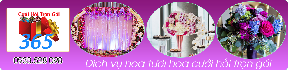 Dịch vụ hoa tươi, hoa cưới trọn gói :