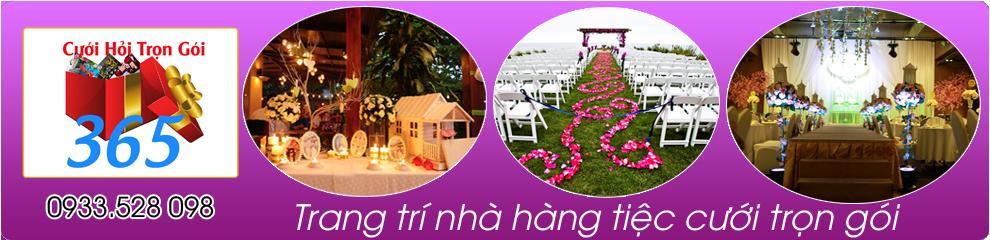 Trang trí nhà hàng tiệc cưới trọn gói :